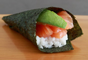 Salmon/Avocado Hand Roll