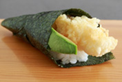Prawn Tempura/Avocado Hand Roll
